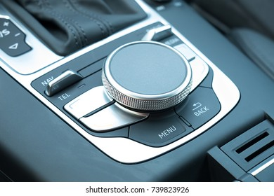 Luxury Car Dashboard Control Buttons