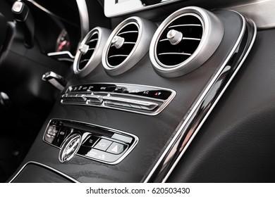 Luxury Car Interior AC Control And Ventilation Deck