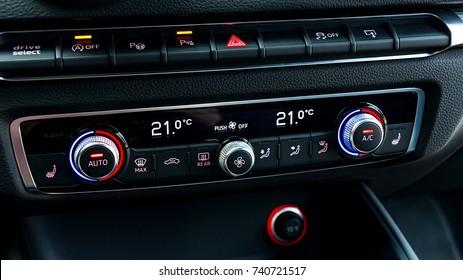 Luxury Car Interior AC Control