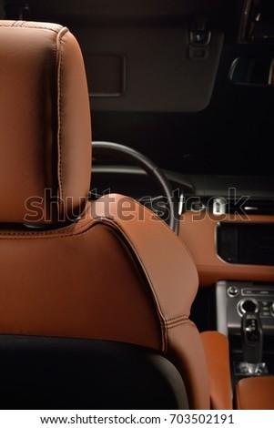 Luxury Car Interior Dash Board Ebony Stock Photo Edit Now