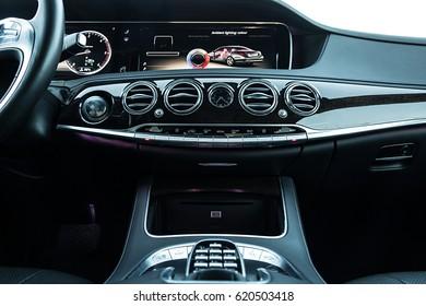 Luxury Car Interior Dashboard