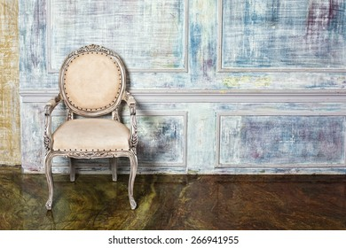 Luxury chair near  wall