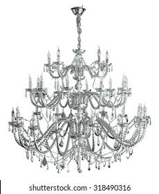 Luxury chandelier isolated