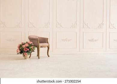 luxury clean bright white interior