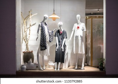 luxury clothes in shop