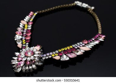 Luxury colorful gems necklace