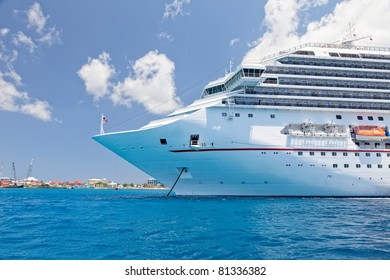 Luxury Cruise Ship Anchored in the Cayman Islands
