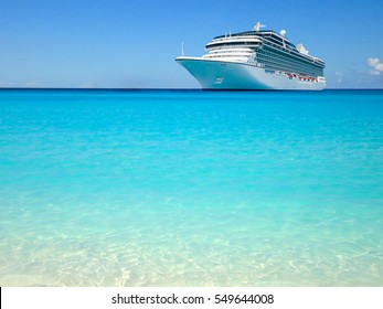 Luxury cruise ship in the Caribbean.