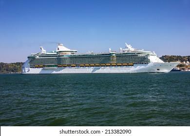 Luxury cruise ship, Lisbon, Portugal