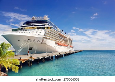 Luxury Cruise Ship in Port