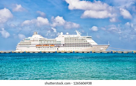 Luxury cruise ship at port. cruising at sea. travel on the ship