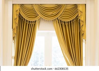 Luxury curtain.