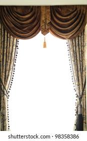 Luxury curtain in the window in room