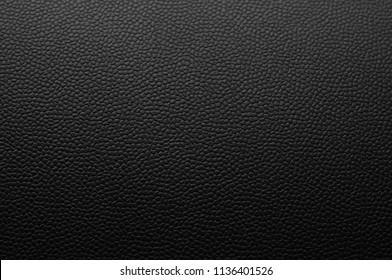 Luxury deep black leather texture background.