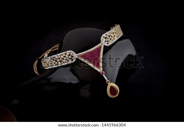 Luxury Diamond Necklace Ruby Stock Photo Edit Now 1441966304