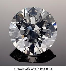 Luxury diamonds on black backgrounds - Round Brilliant cut