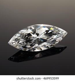 Luxury diamonds on black backgrounds - Marquise shaped