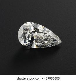 Luxury diamonds on black backgrounds - Pear shaped