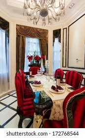 luxury dining room with very nice decoration