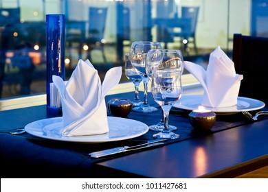 Luxury Dinner Setup Romantic