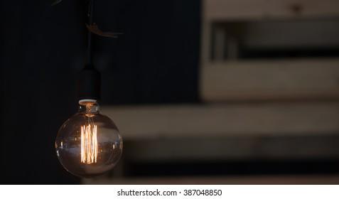 luxury edison retro light lamp