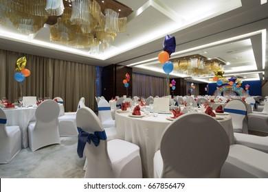 Luxury, elegant Birthday party reception table arrangement.