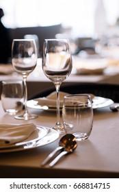 luxury elegant table setting dinner