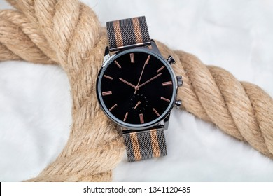 Luxury fashion Men's watches,  isolated on a white background.