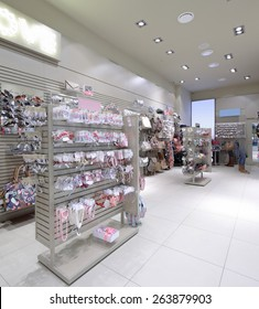 luxury and fashionable brand new interior of accessories store