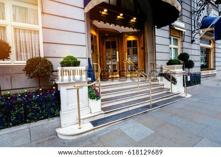 Delicieux Luxury Five Star Hotel Entrance Door, Most Expensive Hotel In London Uk