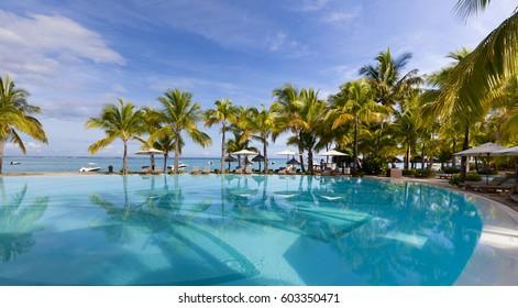 Luxury five stars holiday resort on tropical paradise island