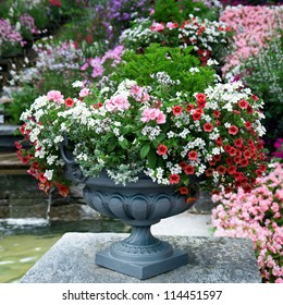 luxury flower bed in a vase