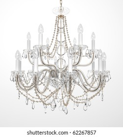 Chandelier images stock photos vectors shutterstock luxury glass chandelier on white background aloadofball Images