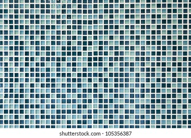 luxury glass mosaic tiles in shades of blue