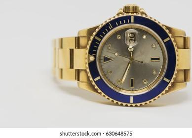 luxury gold watch