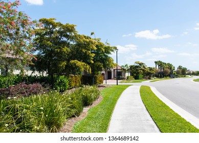 Luxury golf community and club in South Florida with gorgeous landscaping.