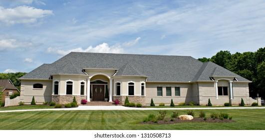 Luxury Gray Stucco Home