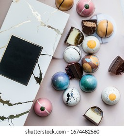 Luxury hand painted chocolate  candy bonbons