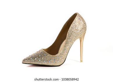 Luxury high heels isolated on a white background. Clipping path for design.