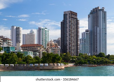 Luxury high rise apartment buildings in Pattaya