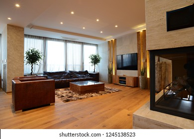 Luxury home living room interior