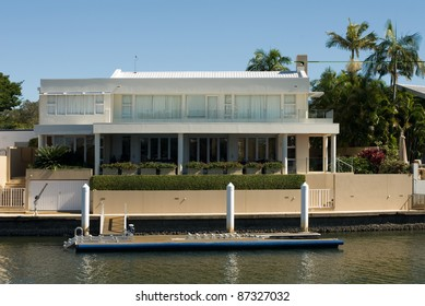 A luxury home on a waterway, Surfers Paradise, Queensland, Australia