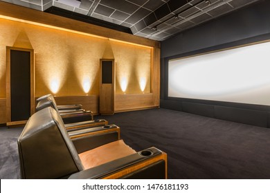 Luxury Home Theater Design. Home Cinema Room. Private Screening Room