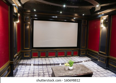 the luxury home theater interior