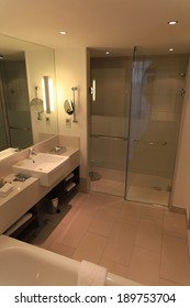 luxury hotel bathroom, and shower