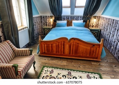Luxury Hotel Bedroom in Russian Style
