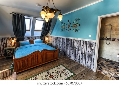 Luxury Hotel Bedroom in Russian Style