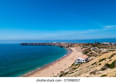 A luxury hotel by a beach in Portugal during summer