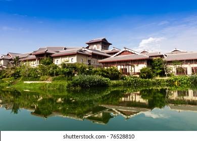 Luxury hotel by the riverside
