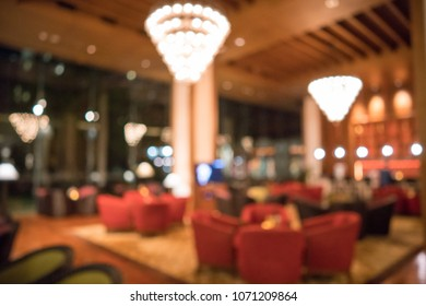 Luxury Hotel Lobby Blurred Background